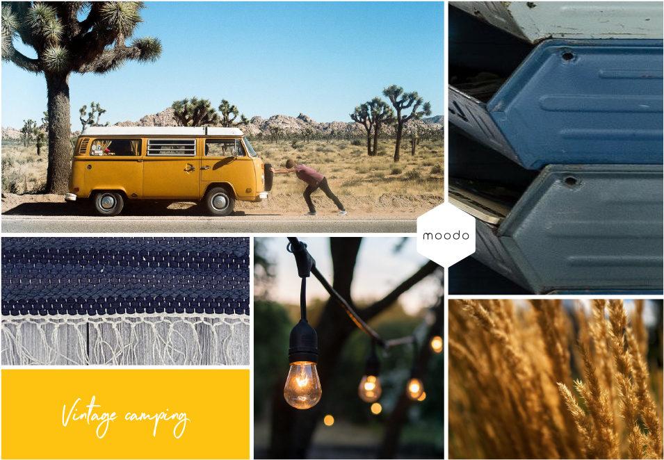 Moodboard interieurontwerp Vintage camping