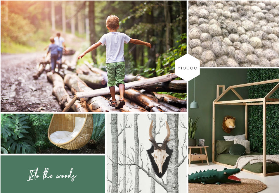 Moodboard interieurontwerp Into the woods