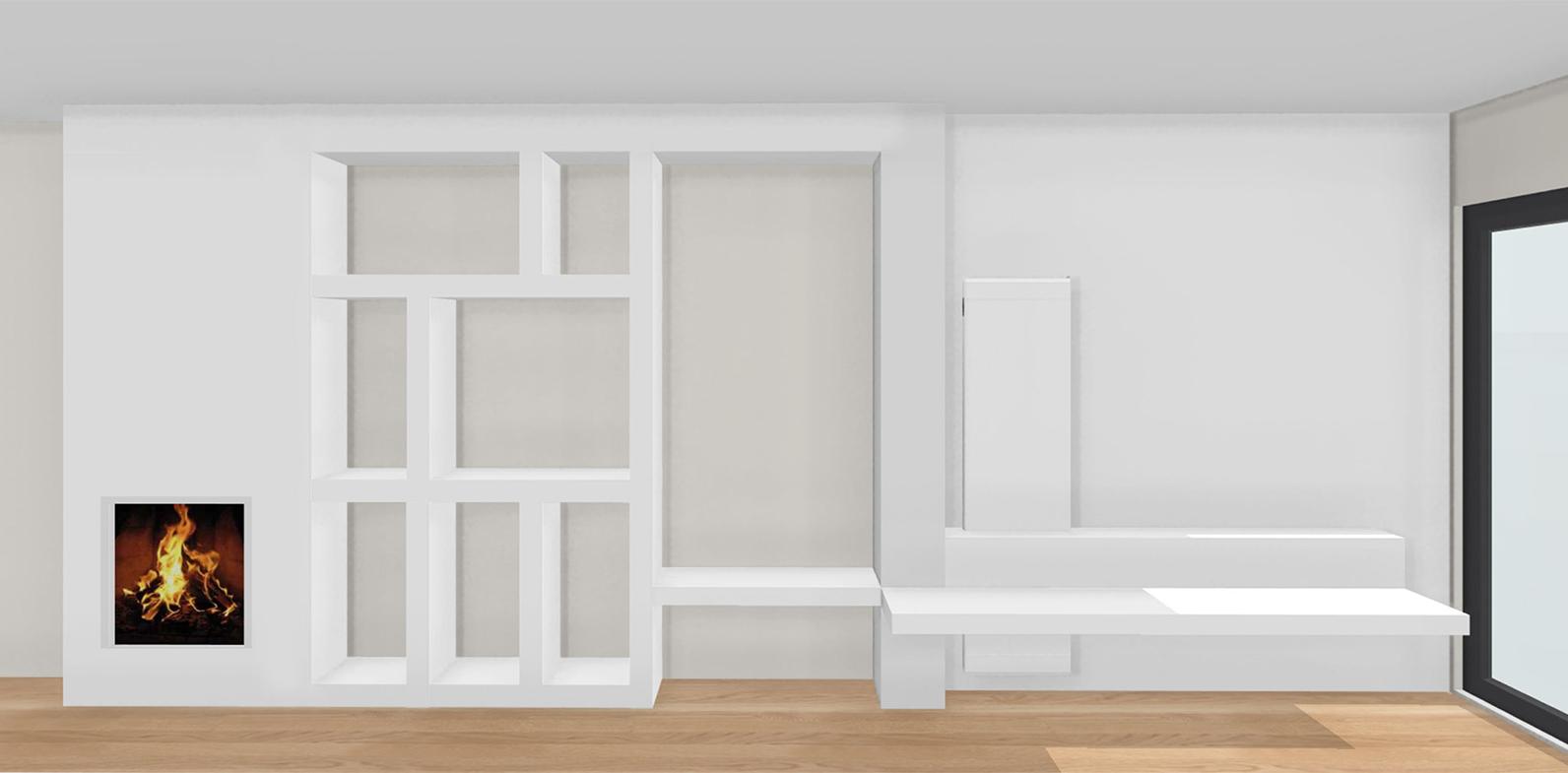 kast-op-maat maatwerk interieurontwerp 3D tekening