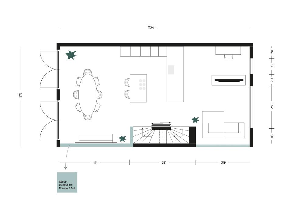 Interieuradvies interieurontwerp beach house plattegrond indelingsplan