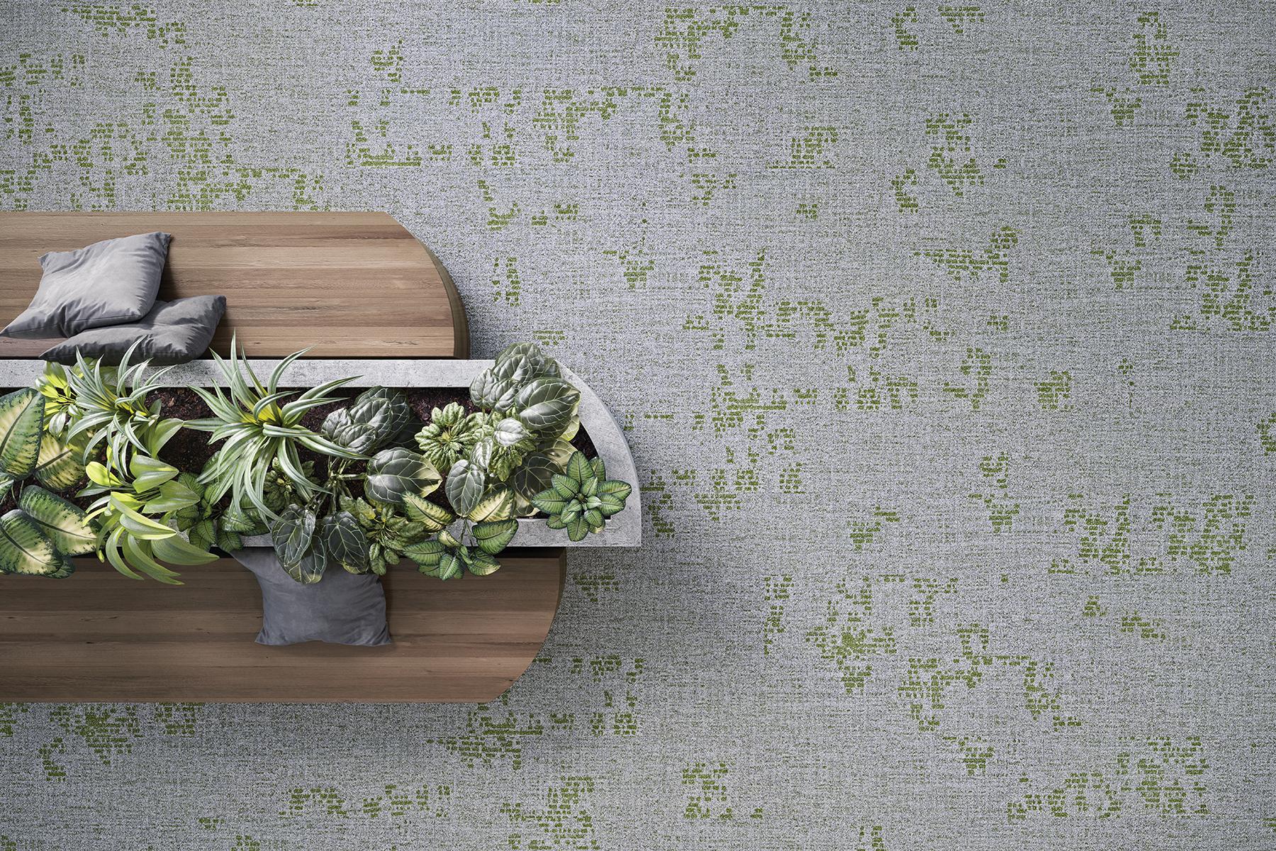 Biophilic Design tapijt vloerbedekking projectinrichting
