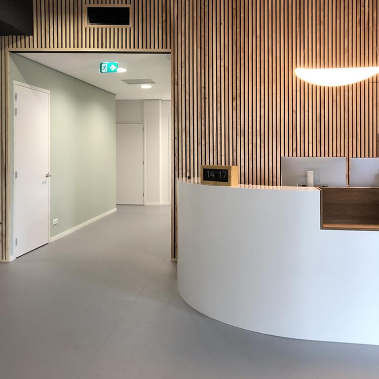 Tandheelkundig centrum interieurontwerp biophilic design